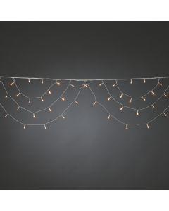 Konstsmide LED Light Curtain 184 amber LEDs Multifunction 24V External Transformer 2.6lm 2200K