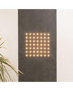 Marburger LED Wallpaper SUN 2.8x0.53m 49 LEDs warm white 2700K 350lm Grey decor app-controlled