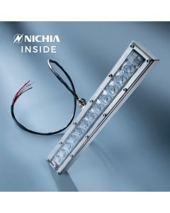 Violet UVC Nichia LED Module 280nm 12 LEDs NCSU334B 630mW 29cm 48VDC with controler incl., for disinfection and sterilisation