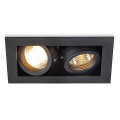 Ceiling lamp SLV Kadux 2 Gu10 Recessed Spot Black