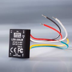 Constant current LED driver Mean Well LDB-LW-350 IP67 350mA 9-36VDC to 2 > 40VDC