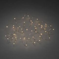 LED Micro Chain of Lights amber, 15m (100 LEDs), copper