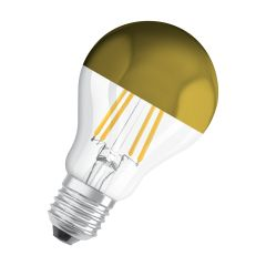 Osram LED STAR RETROFIT CLA 54 FIL Mirror Gold non-dim 6,5W 827 E27 700lm 2700K