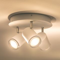 Philips Hue Adore LED Ceiling Light white, three-flame round 750lm