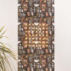 Marburger LED Wallpaper SUN 2.8x0.53m 49 LEDs warm white 2700K 350lm Coffee decor app-controlled