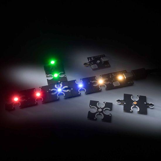 ConextPlay female module red 1 LED 2.5x2.5cm 5V 2.5lm 0.1W
