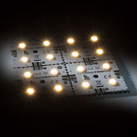 Nichia LED Backlight Module Matrix Mini 4 segments (2x2) 16 LEDs 24V White 2700K 1.92W 274lm