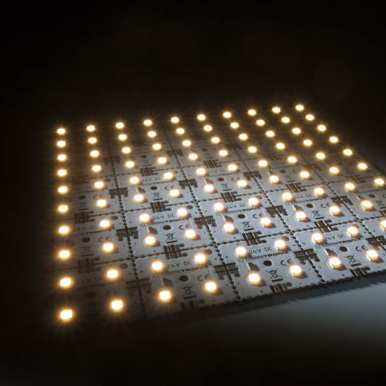 Nichia LED Backlight Module Matrix Mini 25 segments (5x5) 100 LEDs 24V White 2700K 12W 1700lm