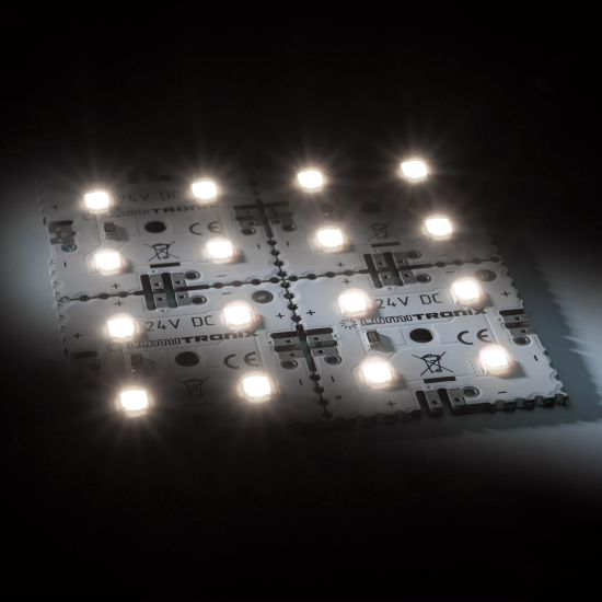 Nichia LED Backlight Module Matrix Mini 4 segments (2x2) 16 LEDs 24V White 4000K 1.92W 300lm