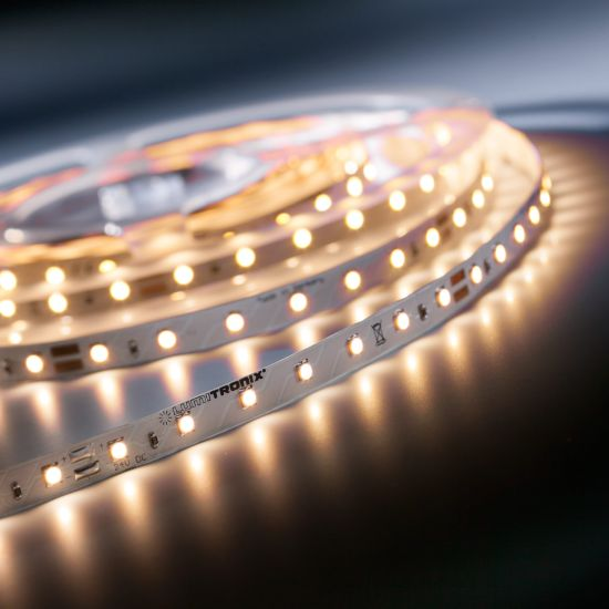 LumiFlex350 Economy LED Strip warm white 2700K 1950lm 24V 70 LEDs/m 5m roll (390lm/m and 4.8W/m)