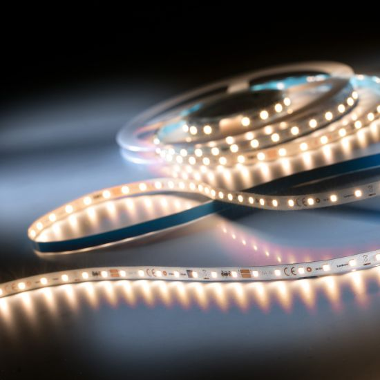 LumiFlex350 Pro Samsung LED Strip warm white CRI80 2700K 6500lm 24V 70 LEDs/m 5m reel (1300lm/m and 12.6W/m)