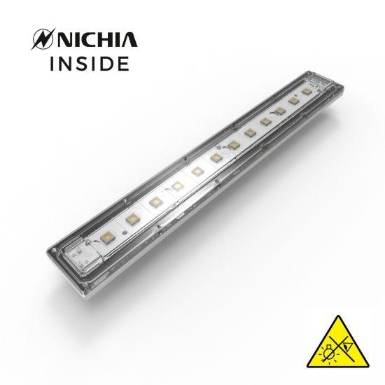Violet UVC Nichia LED Module 280nm 12 NCSU334B LEDs 882mW 29cm 1050mA for disinfection and sterilization