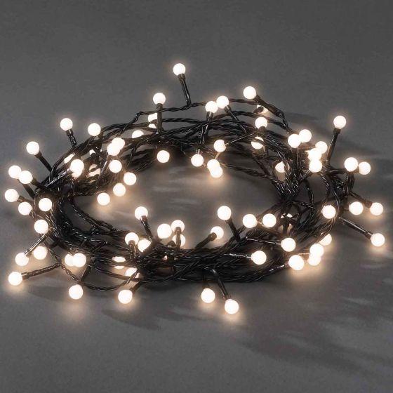 Chain of Lights, 80 round Diodes, warmwhite