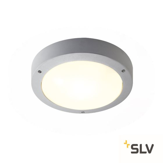 SLV Outdoor Wall and Ceiling Light DRAGAN with Motion Sensor silver grey IP44