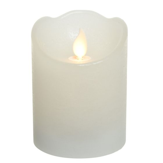 Lumineo LED Real Wax Candle Flickering Effect warm white 10cm 6h Timer Battery Operated
