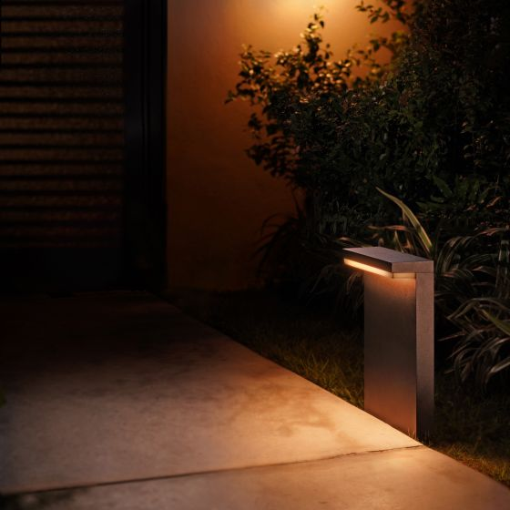 Philips Hue White and Color Ambiance LED Pedestal Light Nyro black 1000lm