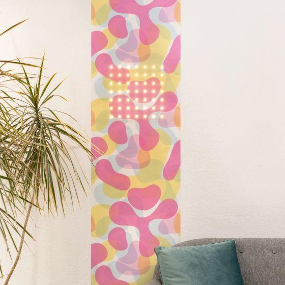 Marburger LED Wallpaper SUN 2.8x0.53m 49 LEDs warm white 2700K 350lm Bubbles decor app-controlled