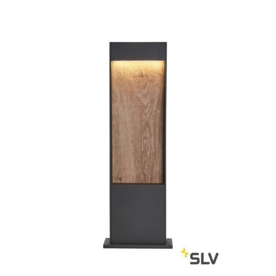 SLV FLATT POLE 65 FL 3000/4000K IP65 Outdoor LED Path Light anthracite/brown 400lm 3000K