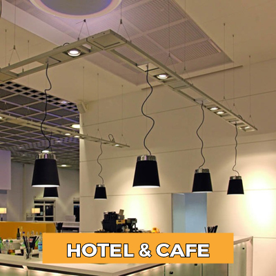 Hotel and cafe lighting