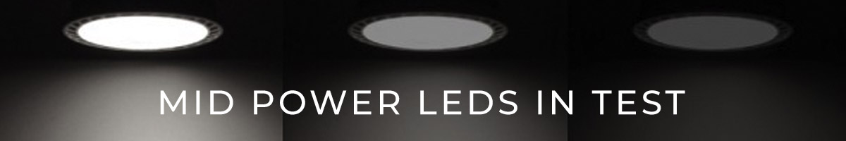 Mid Power LEDs performance comparison test: Nichia LEDs in first place