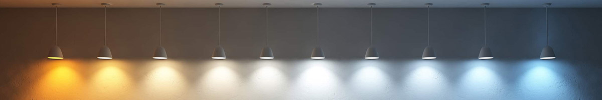 White LED light color temperature can be from 2000K to 10000K