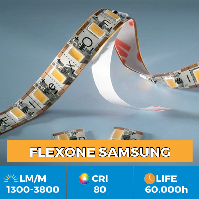 FlexOne LED Flexible LED Strips, can be cut at each LED, light output up to 3800 lm / m