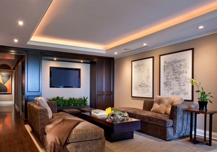 Living room lighting with LEDRISE Lumistrips in covelights