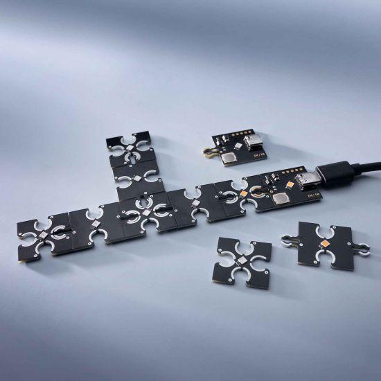 ConextPlay female module warmwhite 1 LED 2.5x2.5cm 5V 10lm 0.1W