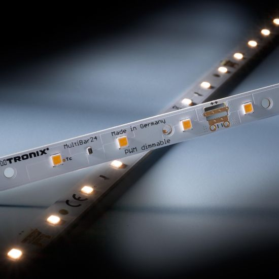 Multibar24 Nichia LED Strip warm white CRI90 3000K 295lm 24V 24 LEDs 50cm bar (590lm/m and 5.2W/m)