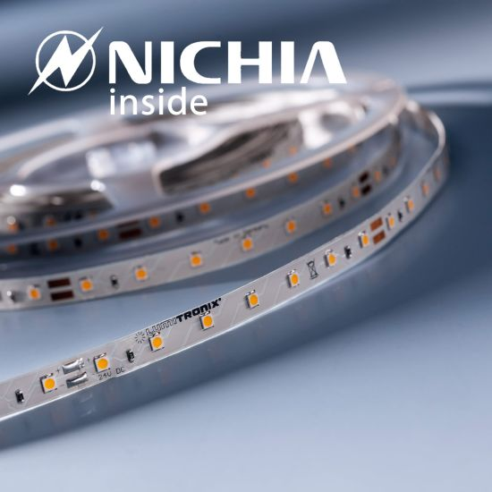 Lumiflex35 Performer Nichia LED Strip warm white 2700K 1220lm 24V 70 LEDs/m price for 50cm (1220lm/m and 9.6W/m)