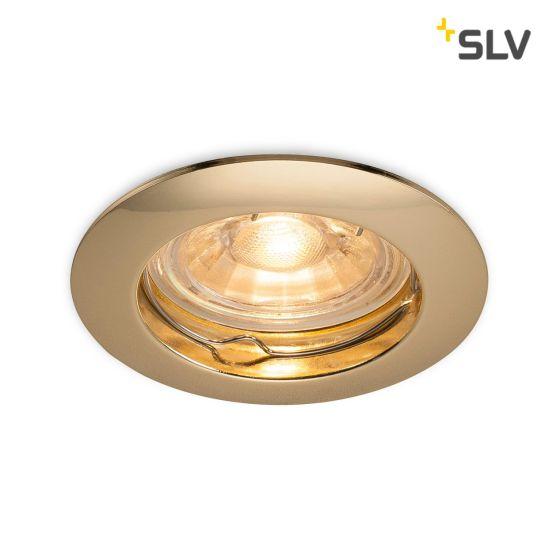 SLV Pika Downlight GU10 6cm brass
