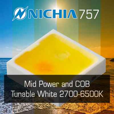 Nichia 2-1 Tunable White LEDs: 757 and COB