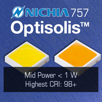 Nichia Optisolis CRI98  White LEDs: 757 and COB