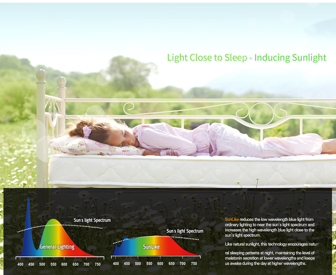 Light for better sleep with Seoul SunLike LEDs