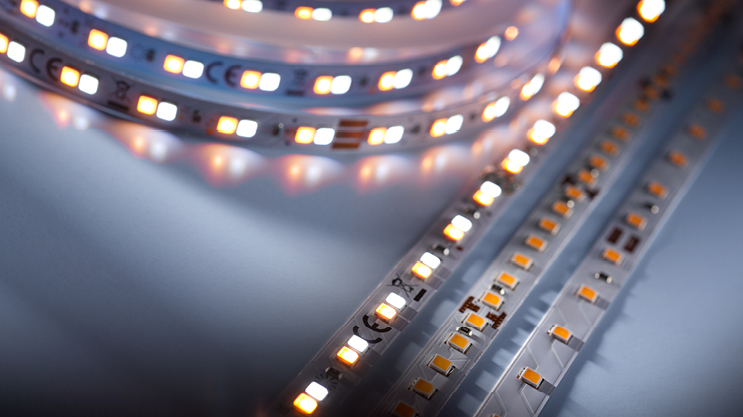 Professional Lumiflex Nichia LED Strips, 100.000 hours lifetime, flux up to 2600 lm/m