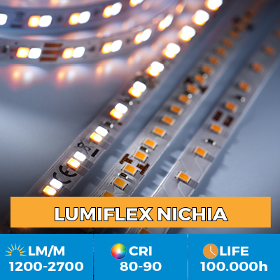 Professional Nichia LED Strips, up to 2700 lm / m, 5 year warranty
