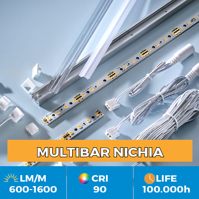 Professional Multibar LED Nichia, Plug & Play, CRI90  , up to 1500 lm / m