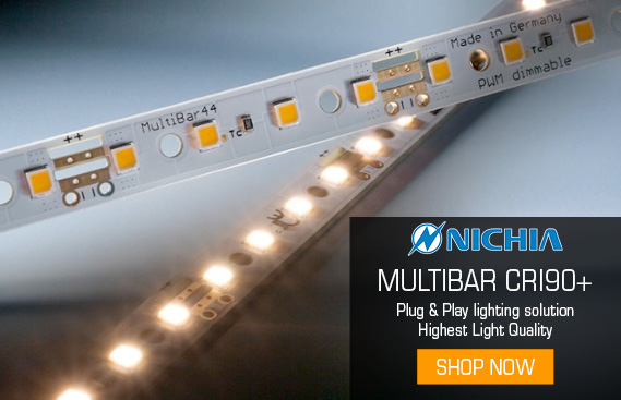 Multibar Nichia LED modules for luxury lighting