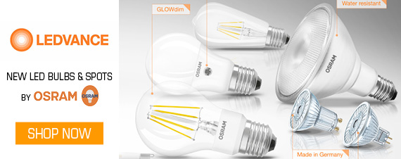 The new range of LEDVANCE Osram LED Tubes, Bulbs and Spots
