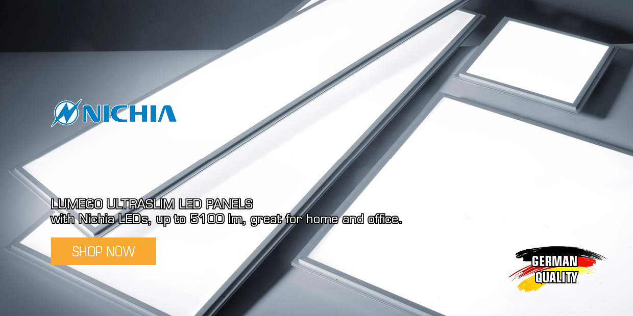 ULTRASLIM NICHIA LED Panels
