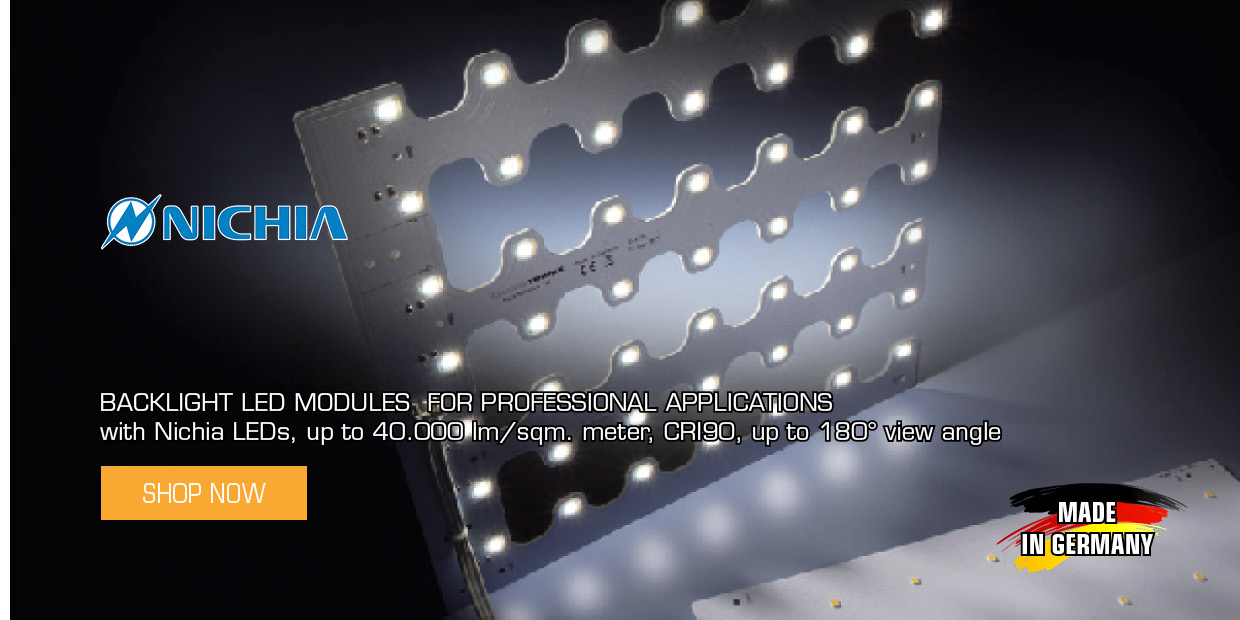 Backlight LED Modules with Nichia LEDs