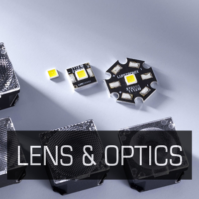 LENS & OPTICS FOR LEDS